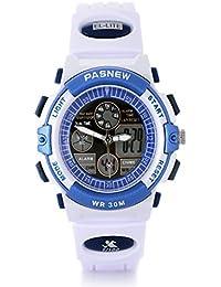 15f6d5587d0 Marrellous Pasnew 30M Waterproof Digitalanalog Boys Girls Sport Digital  Watch with Alarm Stopwatch Chronograph White