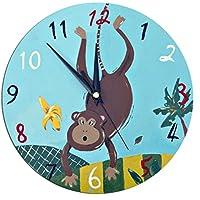 Monkey Clock / Kids Clock / Nursery Decor