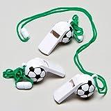 Sifflets Ballon de foot, petits cadeaux pour pochettes surprises parfaits pour les enfants (Lot de 6)