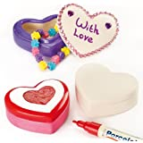Heart Ceramic Trinket Boxes for Kids to Decorate with Love for Mother's Day or Valentines (Box of 4)