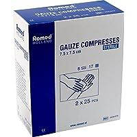 Romed sterile Mullkompressen Wundkompressen von Romed (7.5 x 7.5 cm), 50 Stück preisvergleich bei billige-tabletten.eu
