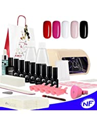 Kit vernis semi permanent french manucure couleurs lampe LED UV 9 Watts. Emballage cadeau noel