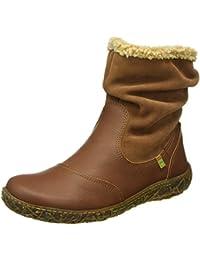 El Naturalista Damen N758 Soft Grain-Lux Suede Wood / Nido Kurzschaft Stiefel