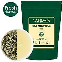Exóticas hojas de té blancas de las Montañas Azules (25 tazas) - TÉ MÁS SANO MUNDIAL - 100% certificado. Hojas sueltas de té blanco puro - Suave y delicioso, RICO EN POTENTES ANTIOXIDANTES, 50gr