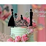 shinybeauty® cake-topper-just-married, personalizado romántico decoración para tarta para