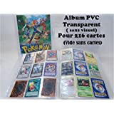 Album souple pour 216 cartes pokémon,yu gi oh,magic sans visuel
