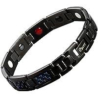Edelstahl Magnetverschluss Armband Blau Carbon Faser 4Element Schmerzlinderung für Arthritis und Karpaltunnelsyndrom... preisvergleich bei billige-tabletten.eu