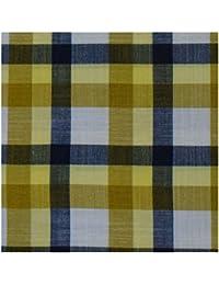 Kundan Sulz Gwalior Men's Executive 100% Pure Cotton Checks Pattern Shirt Pieces ( Pack of 1 Shirt Piece for Men )
