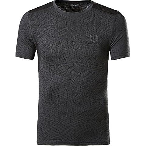 Jeansian Uomo Asciugatura Rapida Sportivo Casuale Slim Sports Fashion T-Shirts