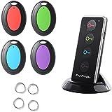 Sidiou Group 4-en-1 Wireless Key Finder Teclas de llamada del localizador del buscador de mascotas Kit de alarma con linterna LED