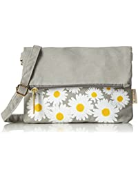 Adelheid Glücklich Blume Handtasche - Bolso de hombro de Lona Mujer Einheitsgröße