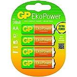 GP Blister de 4 piles rechargeables AA EkoPower