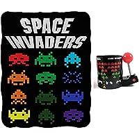 """Space Invaders Bundle: 45""""x60"""" Fleece Throw Blanket & 16oz Molded Mug"""