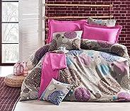 Eponj Home Double Quilt Cover Set, Multi-Colour, 200 x 200 cm, 143EPJ21855, 3 Pieces