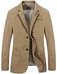 Vogstyle Hombres Slim Fit 2 Botón de Solapa Cool Business Blazer Abrigo Chaquetas Blazers