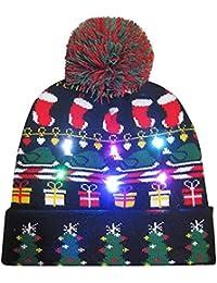 603a9cace65 Cebbay Liquidación Gorro navideño Sombreros y Gorras Gorros de Punto  Unisexo Regalo Sombrero de Invierno cálido