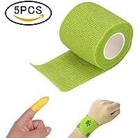 5 Rollen Selbsthaftende Bandage Tattoo Sport Strapping Tape mit überlegener Wasserfest Elastische Haftung, 4.5cm... preisvergleich bei billige-tabletten.eu