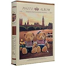 Álbum de fotos infantil Bear oro para 200fotos 10x 15cm, se envía en caja, protectora en papel estampado, espacio escritura para commenter los cámara, Dimensiones 22.5x 30x 5.5cm