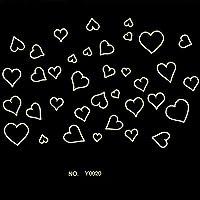 BlueloverAutoadesivo della parete fumetto di amore cuore luminoso fluorescente Wallpaper