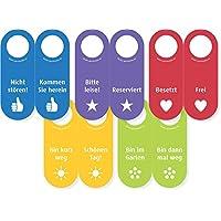 5x Filz Türhänger in allen Farben/Aufschriften mit Zeichen des Dankes (100% Wollfilz) - Vor- und Rückseite ist beschriftet