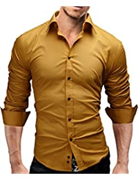 yellow shirts men clothing. Black Bedroom Furniture Sets. Home Design Ideas