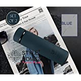 [Sponsored]Style Homez Double Wall Vacuum Insulated Stainless Steel LIFE Flask BPA Free Thermos Travel Water Bottle Sipper 480 Ml - Hot And Cold 12 Hours, Cadet Blue Color - Set Of 2