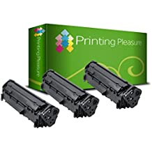 3x Tóner Compatible con Canon LBP-3200 / MF3110 / MF3112 / MF3220 / MF3228 / MF3240 / MF5550 / MF5630 / MF5650 / MF5730 / MF5750 / MF5770 / EP27 / 8489A002AA Negro (Black), Alta Calidad