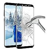 Protection écran SamSung Galaxy S8, Ubegood Galaxy S8 Film Protection en Verre Trempé [Couverture complète] Ultra Clair Dureté 9H Anti-traces Écran de Screen Protection pour Samsung Galaxy S8 - Noir