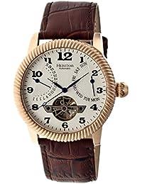 heritor automatic HR2005 - Reloj para hombres, correa de acero inoxidable color marrón