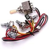 Cableado Del Circuito De Lp De La Guitarra Electrica 3 Cuadro Conmutador Selector De Pastillas 2v/2t/1j