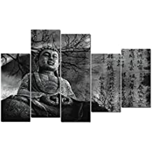 DekoArte 131 - Cuadro moderno, Buda Zen, 150 x 100 cm