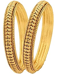 Aabhu Traditional Ethenic Gold Plated Designer Jewellery Kada Bangle For Women And Girls