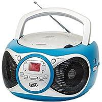 Trevi CD 512 Azul - Microcadena (Azul, 1 discos, AM,FM, Rojo, LED, CD,CD-R,CD-RW)