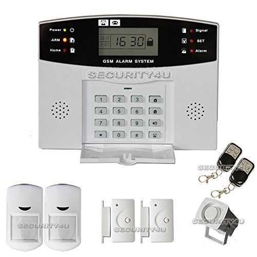 Security4U XF LCD Security Wireless Mobile SMS GSM Autodial Home House Burglar Intruder Alarm