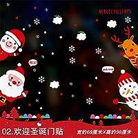 HAPPYLR Sticker Decorazioni Natalizie scenografia Adesivo Vetrinetta per  vetri Adesivi per finestre Griglie Natalizie Regalo di 3adf118ba76b
