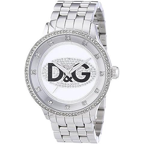 D&G DW0131 - Reloj Unisex movimiento de cuarzo con brazalete metálico plata