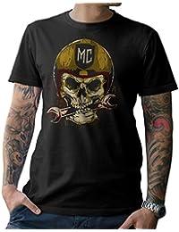 f9b1bae84c Moto Camiseta t-Shirt Calavera de Motocicleta Atornillador Roquero MC Talla  S M L XL XXL 3XL
