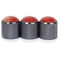 3 Stück Volumen Ton Drehknopf Klangregelknopf für E-Gitarre (Schwarz und Rot)