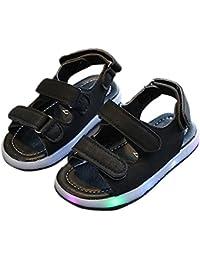 Zapatos de niños, Calzados/Zapatillas/Sandalias de niños Niños Niños Niñas Sandalias de Color Sólido LED Luminoso Iluminación Zapatillas