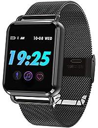Smartwatch Fitness Tracker Armbanduhr Pulsmesser Schrittzähler Kalorienzähler Schlaftracker Sportuhr Touchscreen Aktivitätstracker für Damen Herren