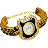 Gauri's A Traditional Hand Craved Apple Design Watch with Zircon Gold Plated Beautiful Bracelet For Girl's AIW707