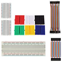 Solderless Breadboard 170/400/830 Tie Point Prototype Breadboard for Arduino with 40/80 pcs Dupont wire(M/M) (9pcs breadboards+80pcs dupont wires