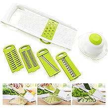 7pcs / Set Multi Mandoline Gemüse Schneidemaschine Edelstahl Schneiden  Gemüse Reibe Kreative Küche Gadget Karotte