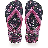 Havaianas Kids Flores, Unisex Babies' Fashion Sandals, Multicolour (Navy/Pink), 23/24 EU