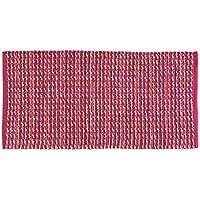 FERIDRAS Twist Alfombra, algodón, fucsia, 60x 120x 72cm