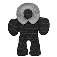JJ Cole Head and Body Support, Black Tri Stitch (Pack of 2)