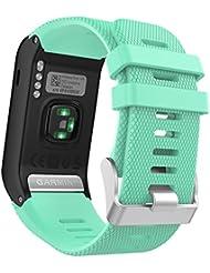 MoKo vívoactive HR Sport Armband - Silikon Ersatz-Uhrenarmband Uhrenarmband Einstellbar Armband Replacement Wechselarmband watch band für Garmin vívoactive HR Sport GPS-Smartwatch, Mint Grün