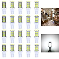 Antline T10 921 194 168 LED Bulbs White 20-Packs, Super Bright 3014 42-SMD LED Replacement 12 Volt RV Camper Trailer Boat Trunk Interior Dome Map License Lights, Backup Reverse Lights