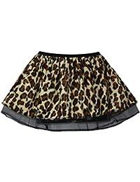 "Ladies Cheetah Print Pleated 10"" Tutu Wild Animal Fancy Dress Skirt"