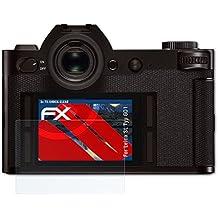 Leica SL (Typ 601) Pellicola Proteggi - 3 x atFoliX FX-Shock-Clear ammortizzante ultra chiaro Anti-Shock Pellicola protettiva Protezione Pellicola dello Schermo